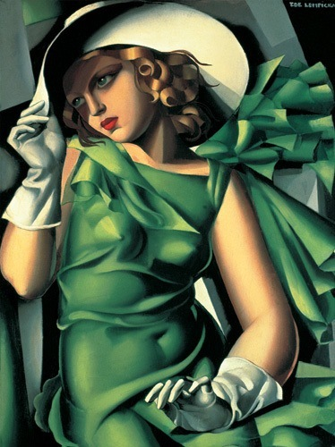 de_Lempicka_Young_girl_in_a_green_dress__1927-30_