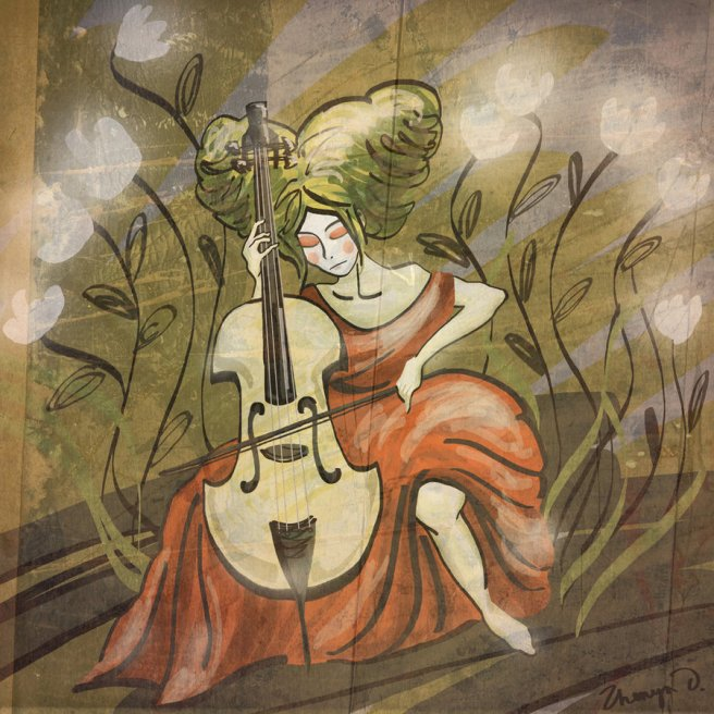 Cello Player by zhenya_o@deviantart.com